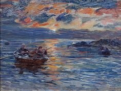 www.machrihanish.net William McTaggart - Sunset at Machrihanish.