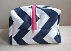 Hey, I found this really awesome Etsy listing at http://www.etsy.com/listing/125636315/navy-chevron-makeup-bag-large