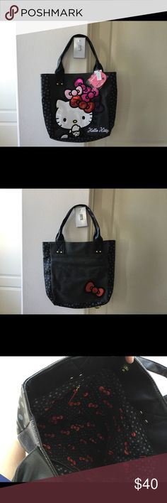 NWT Hello Kitty Tote It is an adorable bag in and out. Hello Kitty Bags Totes