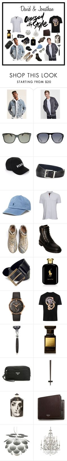 David & Jonathan by sagaltheophilmarak on Polyvore featuring Versace, Burberry, 21 Men, Boohoo, Yeezy by Kanye West, Balmain, Longines, Gucci, Mulberry and Diesel