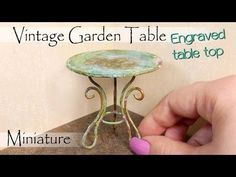 Miniature Vintage Garden Table Tutorial // DIY Dollhouse Furniture // SugarCharmShop - YouTube