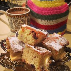 Afternoon tea anyone?  This cake was sinfully moist and delicious!  Recipe and more at http://thenaughtybuns.tumblr.com