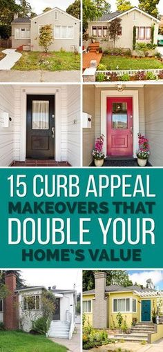 "While it's doubtful to me that you will ""double your homes value"", there is no denying that these makeovers significantly increased the home's sellability and list price. Take a look at these makeovers and see what it might inspire around your curb. #curbappeal #homemakeover #beforeandafterhousepics"