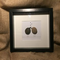 Lovebirds pebble art von MeganMakesDesigns auf Etsy