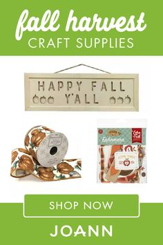 "If you're getting ready to decorate for the season, don't forget to ""harvest"" some Fall Craft Supplies from JOANN! Find cute and fun pieces like Small Wooden Tabletop Pumpkin, Wooden Hanging, and so much more. Harvest Crafts, Fall Projects, Military Discounts, Warm Sweaters, Joanns Fabric And Crafts, Fall Harvest, Happy Fall, Fall Crafts, Craft Stores"