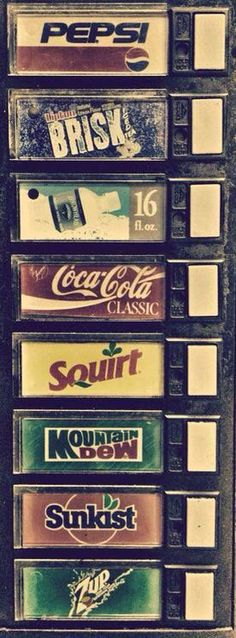 Soda vendor labels