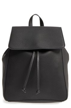 Trendy Black Leather Backpack for Fall | Curated by Courtney