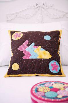 Capa de almofada de patchwork e quilt / DIY, Craft, Upcycle