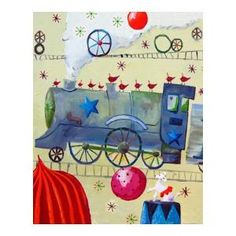 CiCi Art Factory Circus Train Poodle Paper Print $37.81 by AllModern