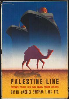Palestine Line  Vintage Poster