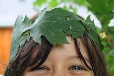 #open-ended play with leaf crowns and imaginaton.  I am loving these simple to make crowns.