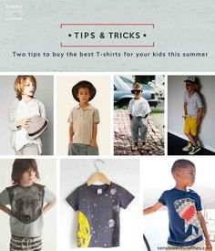 """Pinteres cover for """"Two tips to buy the best T-shirts for your kids this summer"""" post sensible kids clothes"""
