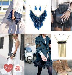 Los flecos, siempre los percibimos como un clásico, está inspirado en los años 20's, si quieres usar esta tendencia en ropa y accesorios, lleva solamente un elemento de flecos en tu atuendo para evitar que tu look se vea muy cargado.