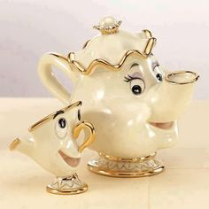 Chip and Mrs. Potts...I need this for my china cabinet....love beauty and the beast