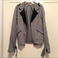 Betsey Johnson sweater Blazer! Super cute fleece sweateshirt. Buttons feel off on sleeve but rest of sweater is good. Betsey Johnson Sweaters Cardigans