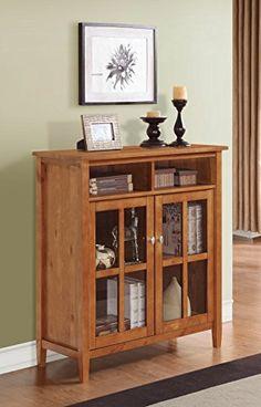Simpli Home Warm Shaker Medium Storage Cabinet, Honey Brown  http://www.furnituressale.com/simpli-home-warm-shaker-medium-storage-cabinet-honey-brown/