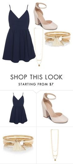 """""""Homecoming"""" by mfrantz13 ❤ liked on Polyvore featuring Glamorous, ZALORA and River Island"""