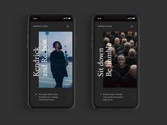 Kendrick Lamar - web design by Nicolas Bonté - #Bonté #design #Kendrick #Lamar #Nicolas #Web Ui Design Mobile, App Ui Design, User Interface Design, Ad Design, Layout Design, Mobile Ui, Minimal Web Design, Kendrick Lamar, Website Design Inspiration