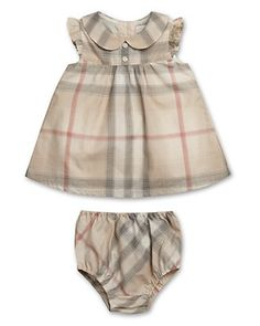 Burberry Infant Girls' Davina Short Sleeve Dress with Bloomers - Sizes 3-24 Months