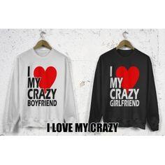 Bluzy dla par zakochanych komplet 2 szt I love my crazy