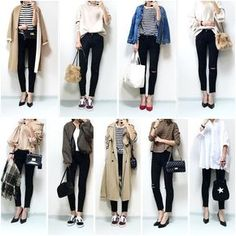 """I have clothes but no clothes to wear! """"How to arrange wardrobes"""" to be fashionable – Miracles from Nature Work Fashion, Daily Fashion, Hijab Fashion, Everyday Fashion, Korean Fashion, Fashion Outfits, Womens Fashion, Japan Outfits, Spring Japan Outfit"""