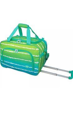 "Travelers Club Luggage 20"" Overnight Rolling Carry-On Wheeled Duffel NEW #TravelersClubLuggage"
