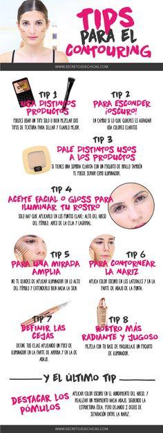 Tips para el contorneado del rostro. Day Makeup, Makeup Blog, Makeup Dupes, Makeup Goals, Love Makeup, Makeup Art, Vídeos Youtube, Tips & Tricks, Face Tips