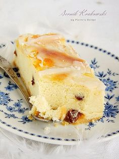 delicious Cracow cheesecake Pierre Hermé (in Polish) Polish Cake Recipe, Polish Recipes, Polish Food, Easy Healthy Meal Plans, Sweet Recipes, Cake Recipes, Cooking Time, Cooking Recipes, Seasoned Bread Crumbs