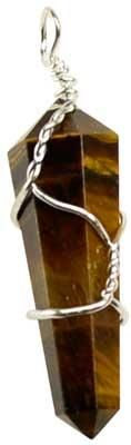 Wire Wrapped Tiger Eye Point
