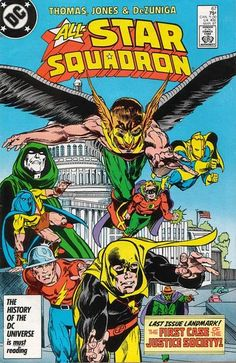 """X-Men meet G-Men: J. Edgar Hoover brings the heroes who would be the Justice Society together for what would be their first case. Roy Thomas ends this series on a high note and promises to begin a new one recalling """"Young Allies"""" (minus the goofy ordinary kid hanger-ons)."""