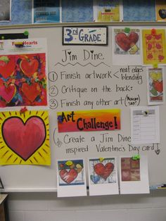 what Graders learned about Jim Dine and Value/Blending! Jim Dine, 3rd Grade Art Lesson, Third Grade Art, Jamestown Elementary, 7 Arts, Valentines Art, Middle School Art, High School, School Art Projects