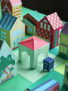 Print Paper House 13, Print and Make your own neigborhood, Free Printable Crafts for Kids, Printable Paper Toys Houses and Print a Street for fans of www.wonderweirded.com , with thanks to vivint for their series of print out pdfs