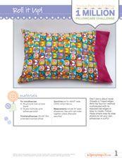 Basic Pattern - roll it up (burrito) pillowcase pattern Sewing Hacks, Sewing Tutorials, Sewing Patterns, Burrito Pillowcase, Quilting Projects, Sewing Projects, Pillowcase Pattern, Pillowcase Tutorial, Sewing Class