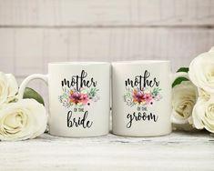 Mother of the bride and groom gift mug set. Coffee mug for mother of Bride & Groom. Mother in law gift. Thank you gift for mom. Wedding mug. Mother In Law Gifts, Sister Gifts, Mother Of The Bride, Best Friend Mug, Friend Mugs, Grandma Mug, Grandmother Gifts, Wedding Mugs, Wedding Gifts