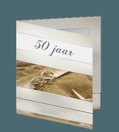 50 jaar getrouwd klassieke uitnodiging huwelijksjubileum