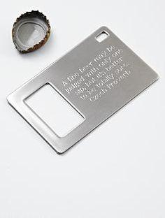 Wallet bottle opener... GREAT Groomsmen gift.