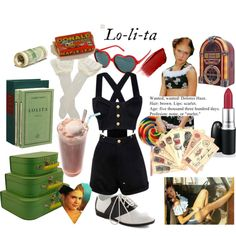 hey lolita hey by lelecohen on Polyvore featuring CHI, Trasparenze, Pinup Couture, CARGO, Urban Outfitters, MAC Cosmetics, Hourglass Cosmetics, Retrò, Edition and Dominique