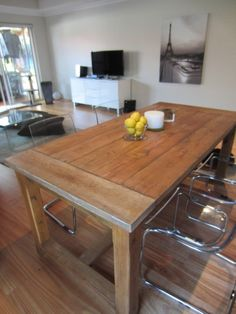 beautiful recycled timber tables