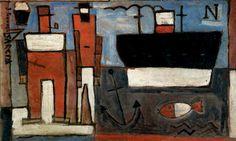 Puerto, 1934. Óleo sobre cartón Joaquín Torres García