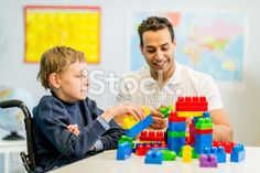 Boy with Developmental Disability Royalty Free Stock Photo
