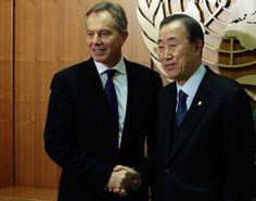 Ban Ki Moon Meets Blair
