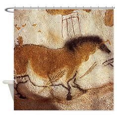 Lascaux Horse Painting Shower Curtain on CafePress.com