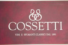 Cossetti logo. Company established in 1891 and still family owner and operated