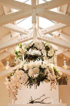 Flower Chandeliers / Wedding Style Inspiration / LANE