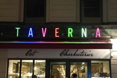 Taverna Brillo Stureplan Stockholm Sign of the Year Award Restaurant Signage, Stockholm, Neon Signs, Led, Logos, Logo, Restaurant Signs