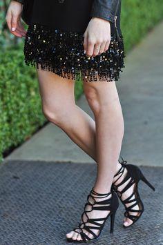 Brooke du jour | Forever21 black strappy heels