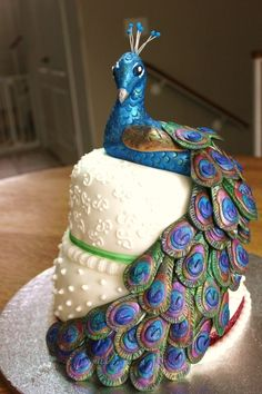 Peacock Cake Peacock Cake Peacocks And Cake - Peacock birthday cake