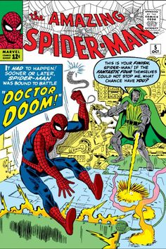 The cover to Amazing Spider-Man #5 (1963), art by Steve Ditko