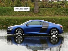 2014 AUDI R8 V10 5.2 PLUS S'Tronic Matt Effect Sepang Blue with Black Milano Leather
