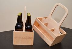 Personalized Beer Carrier 6-pack Engraved Name by Woodplay24
